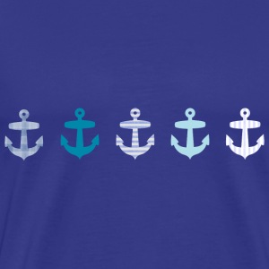 Nautical Blue Anchors Design T-Shirts - Men's Premium T-Shirt