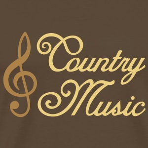 Country Music - Clef T-Shirts - Men's Premium T-Shirt