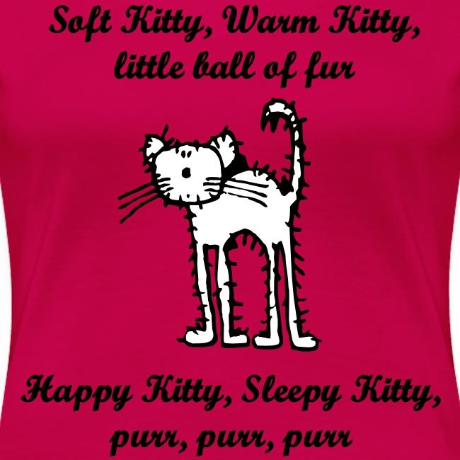 Dame t-skjorte - Soft Kitty