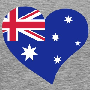 Australia heart - Men's Premium T-Shirt