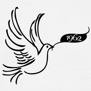 Dove of Peace met Jaar 1962 T-shirts - Mannen T-shirt