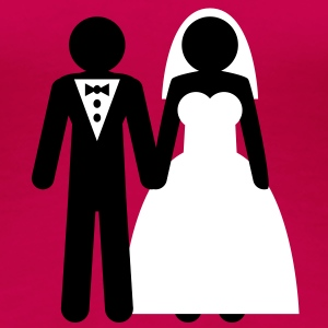wedding_couple T-Shirts - Frauen Premium T-Shirt