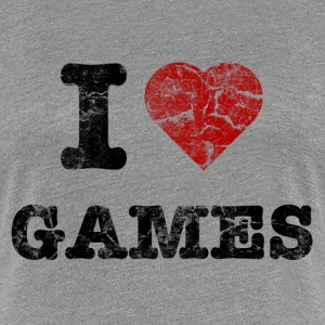 i_love_games_vintage T-Shirts - Frauen Premium T-Shirt