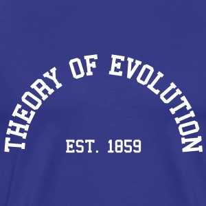 Theory of Evolution - Est. 1859 (Half-Circle) T-Shirts - Men's Premium T-Shirt