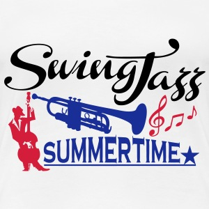 swing jazz summertime T-Shirts - Women's Premium T-Shirt
