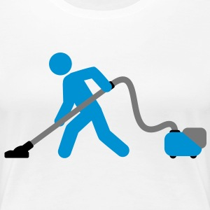 vacuuming_boy T-shirts - Vrouwen Premium T-shirt