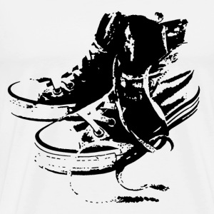 Sneakers Black T-Shirts - Men's Premium T-Shirt