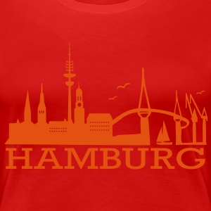 Hamburg Skyline T-Shirts - Frauen Premium T-Shirt