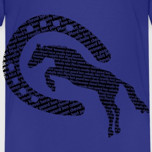 horseshoehorsewords2 Shirts - Kids' Premium T-Shirt