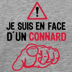 je suis face connard insulte doigt point Tee shirts - T-shirt Premium Homme