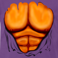 Design ~ Ripped Muscles Orange, six pack, chest t-shirt