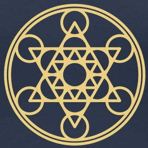 Metatrons Cube, Star Tetrahedron,  Flower of Life/ - Women's Premium T-Shirt