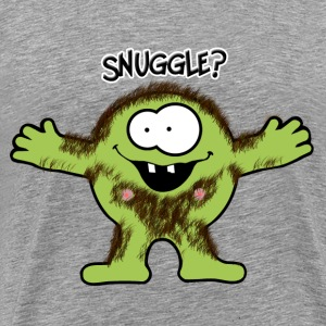 Hairy snuggle Monster T-Shirts - Men's Premium T-Shirt