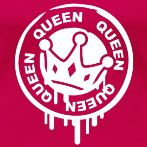 queen_crown_stamp T-shirt - Maglietta Premium da donna