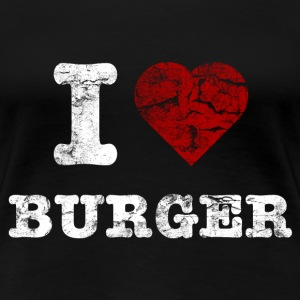 i love burger vintage light T-shirts - Premium-T-shirt dam