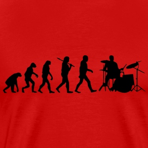 evolution of drums Tee shirts - T-shirt Premium Homme