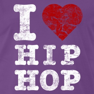 i_love_hiphop02_vintage_hell T-shirts - Mannen Premium T-shirt