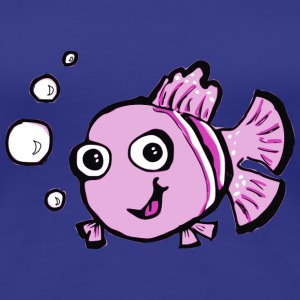 Cute Pink Cartoon Fish T-Shirts - Women's Premium T-Shirt