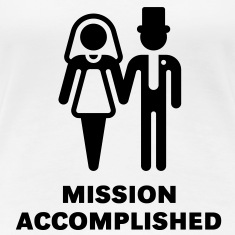 Mission Accomplished, New (Hochzeit) Girl-T-Shirt