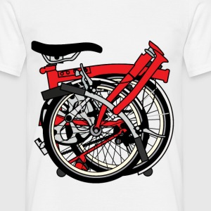 Brompton Bicycle ready to be transported. T-Shirts - Men's T-Shirt