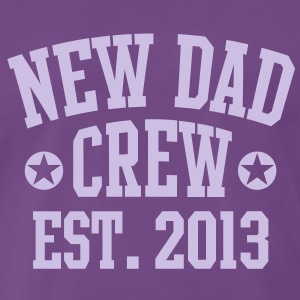 NEW DAD CREW EST 2013 T-Shirt LF - Mannen Premium T-shirt