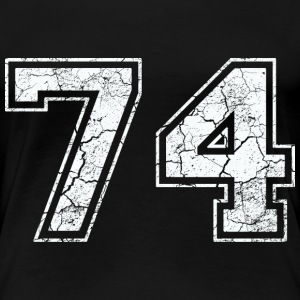 74 in white in the used look T-Shirts - Women's Premium T-Shirt