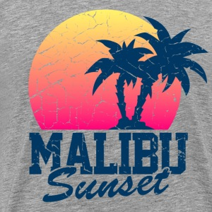 Heather grey Sunset Malibu vintage worn T-Shirts - Men's Premium T-Shirt