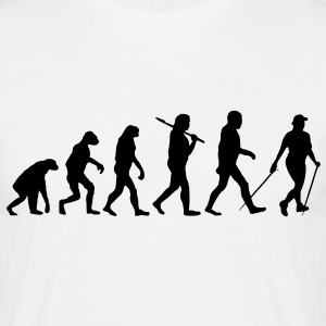 evolution of nordic walking Tee shirts - T-shirt Homme