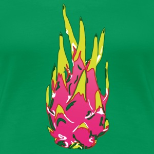Dragon fruit on color - Women's Premium T-Shirt