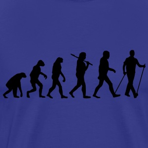 evolution of nordic walking Tee shirts - T-shirt Premium Homme
