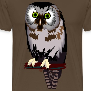 Owl Bird Of Prey - Men's Premium T-Shirt