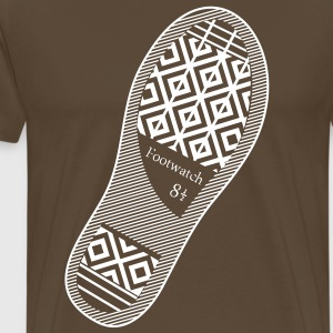 Shoeprint Foot Watch  T-Shirts - Men's Premium T-Shirt
