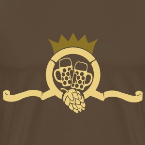 beer hops crown with  T-Shirts - Men's Premium T-Shirt