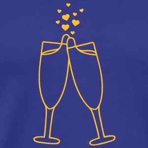 champagne_with_hearts T-Shirts - Men's Premium T-Shirt