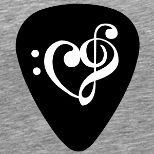 Plectrum clef heart - Men's Premium T-Shirt