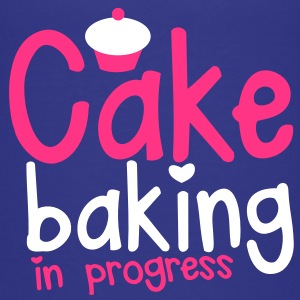 CAKE BAKING in progress cute cupcake love heart Shirts - Kids' Premium T-Shirt