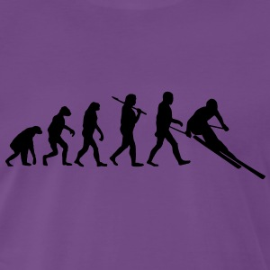 evolution of ski Tee shirts - T-shirt Premium Homme