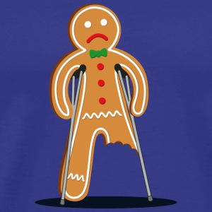 gingerbread man hurt (blue) T-Shirts - Men's Premium T-Shirt