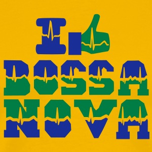 I like Bossa Nova heart beat T-Shirts - Men's Premium T-Shirt