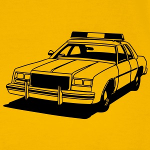 Police Car Retro T-Shirts - Men's Premium T-Shirt