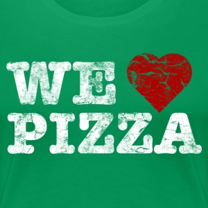 we_love_pizza_vintage_hell Camisetas - Camiseta premium mujer
