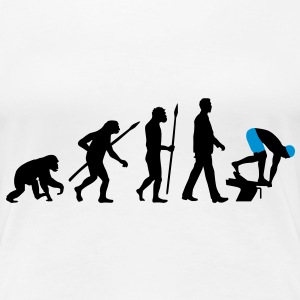 evolution_schwimmer_102012_a_2c T-Shirts - Frauen Premium T-Shirt