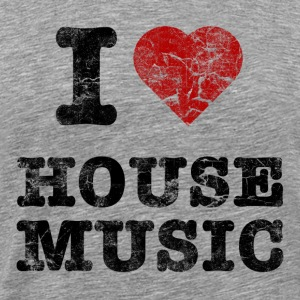 i_love_housemusic_vintage T-shirts - Mannen Premium T-shirt