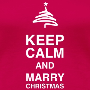 Keep Calm and merry Christmas T-Shirts - Koszulka damska Premium