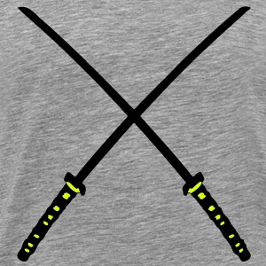 Katana Samurai Swords Crossed - Männer Premium T-Shirt