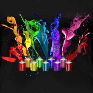 Dance of paints - 9 colors T-Shirts - Frauen Premium T-Shirt