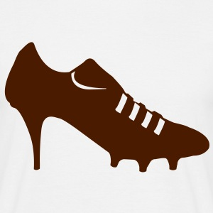 Women soccer shoes  T-Shirts - Men's T-Shirt