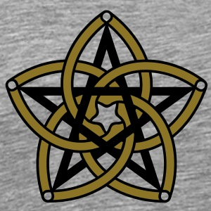 Pentagram & Venus Flower - Protection & Balance / T-shirts - Herre premium T-shirt