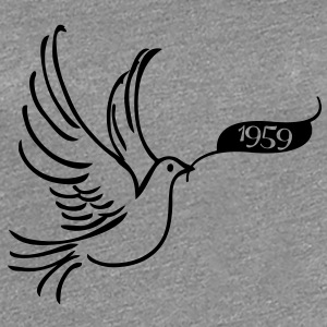 Dove of Peace med år 1959 T-shirts - Dame premium T-shirt