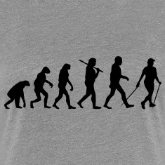 evolution of nordic walking T-Shirts
